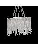 IDEAL LUX: Rain sospensione 5 luci con elementi in cristallo molato ottagonali, quadrati