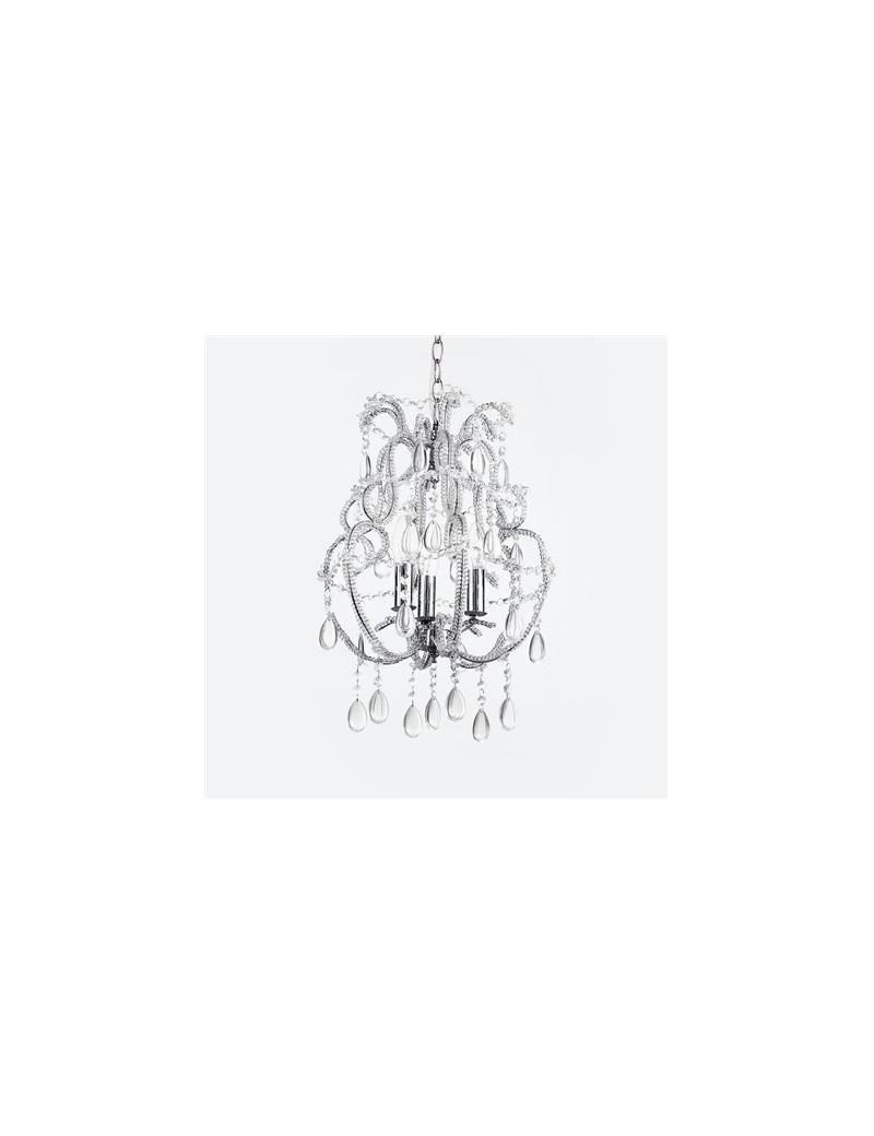 prisma lampadario sospensione bobeches con ottagoni di cristallo e gocce in vetro