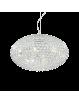 IDEAL LUX: Orion sospensione 12 luci con ottagoni di cristallo incastonati all'interno in offerta
