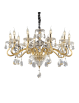IDEAL LUX: Negresco sp10 lampadario sospensione cristallo molato bracci in vetro soffiato dorato 10