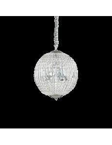 luxor sp6 lampadario sospensione cristallo ottagonali e rettangolari 6 luci cromo