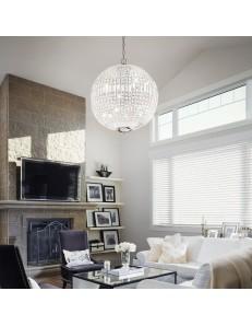 luxor sp12 lampadario sospensione cristallo ottagonali e rettangolari 12 luci cromo