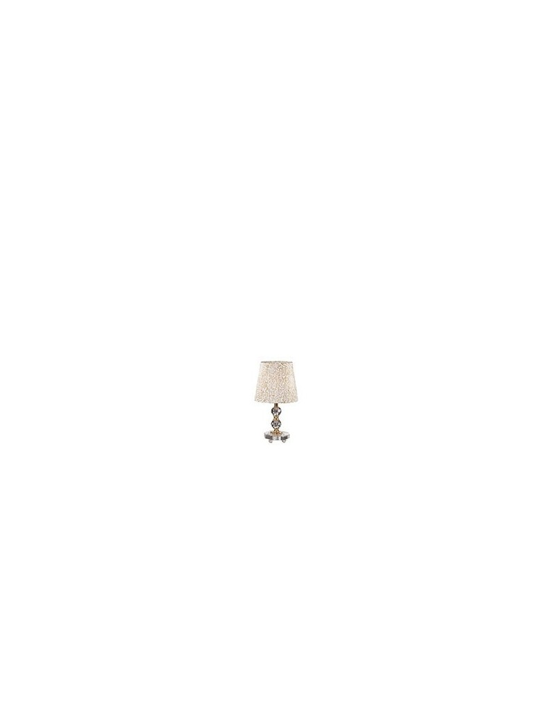 IDEAL LUX: Queen tl1 small lume da tavolo con paralume e decorativi in cristallo dorato in offerta