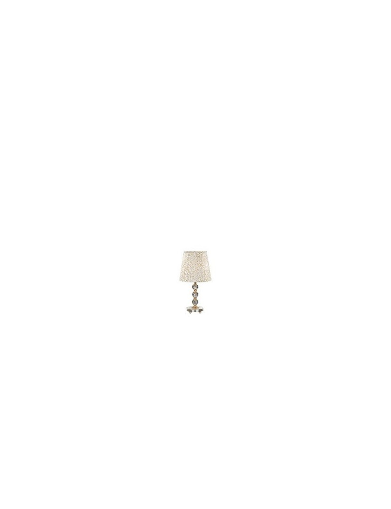 IDEAL LUX: Queen tl1 medium lume da tavolo con paralume e decorativi in cristallo dorato in offerta