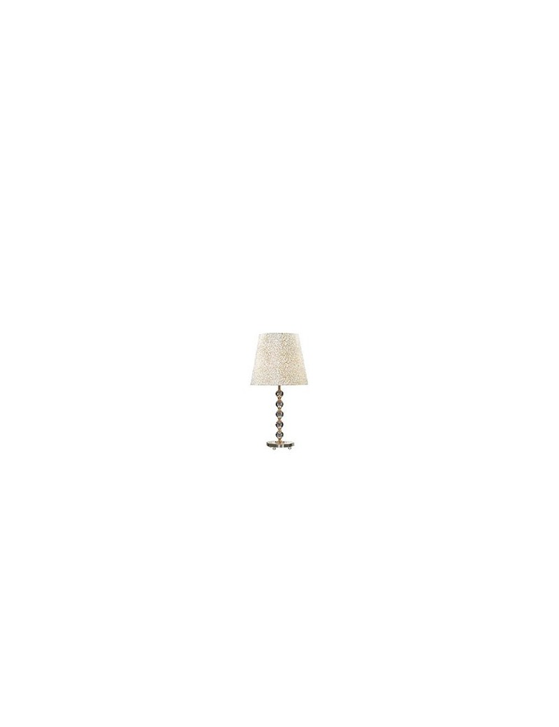 IDEAL LUX: Queen tl1 big lume da tavolo con paralume e decorativi in cristallo dorato in offerta