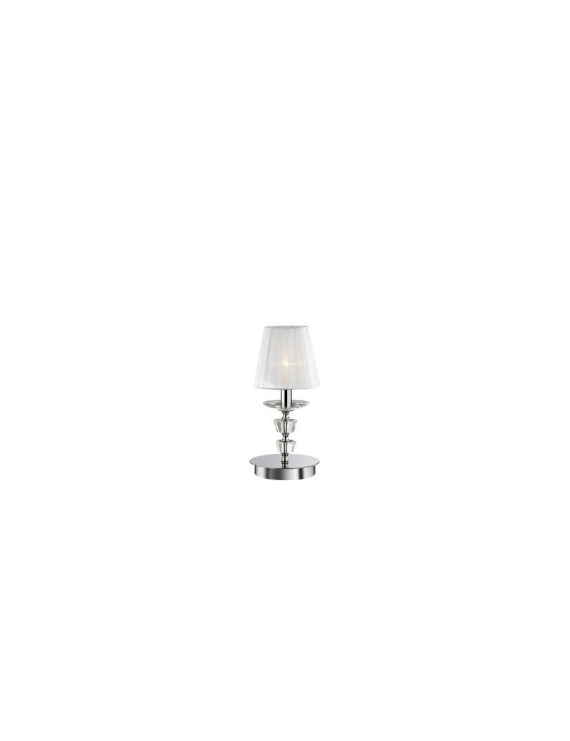 IDEAL LUX: Pegaso tl1 small lume bobeches e pendagli in cristallo molato paralumi organza in offerta