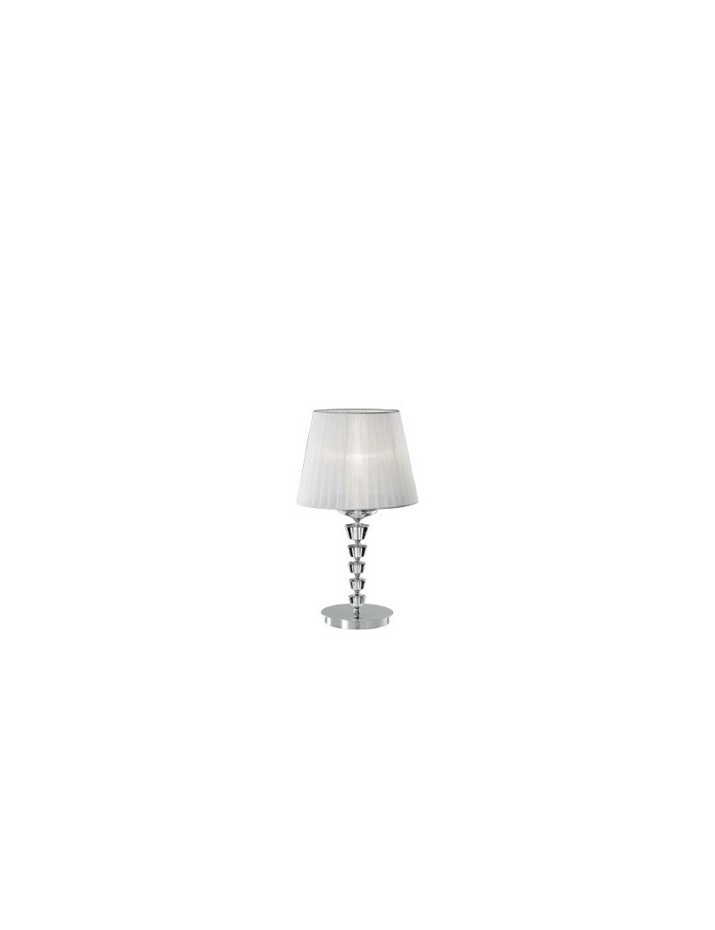 IDEAL LUX: Pegaso tl1 big lume bobeches e pendagli in cristallo molato paralumi organza in offerta