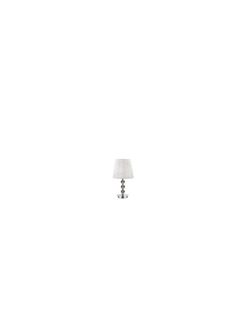 IDEAL LUX: Le roy tl1 medium lume da tavolo con paralume e decorativi in cristallo argentato in