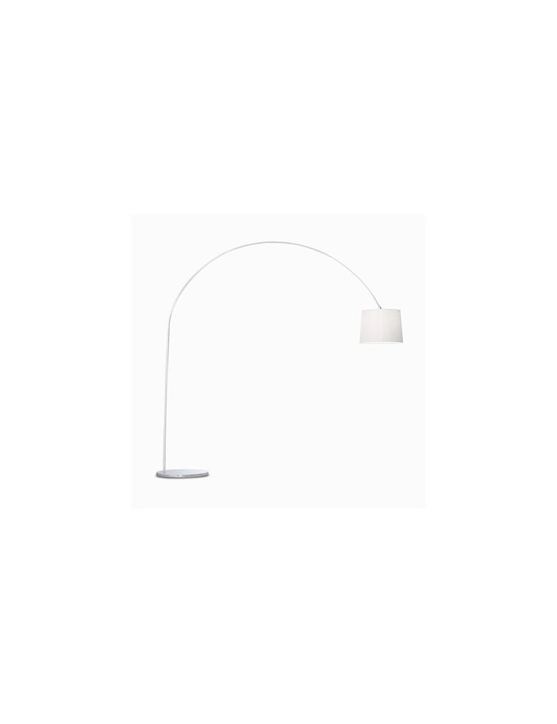 IDEAL LUX: Dorsale bianco Piantana lampada da terra ad 1 luce paralume in lamina in offerta