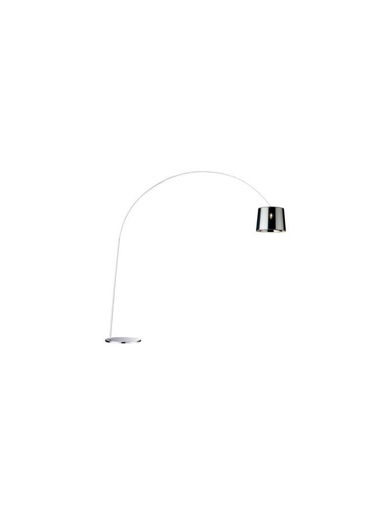 IDEAL LUX: Dorsale cromo Piantana lampada da terra ad 1 luce paralume in lamina in offerta