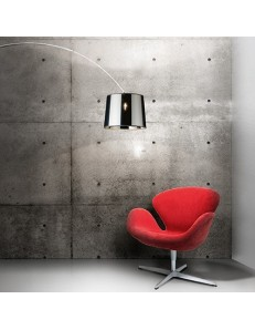 Idea Lux: Dorsale nero Piantana lampada da terra ad 1 luce