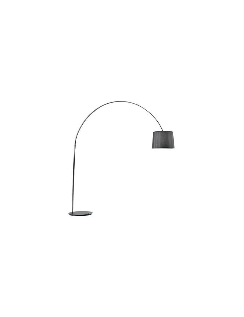 IDEAL LUX: Dorsale total BLACK Piantana lampada da terra ad 1 luce paralume in lamina in offerta