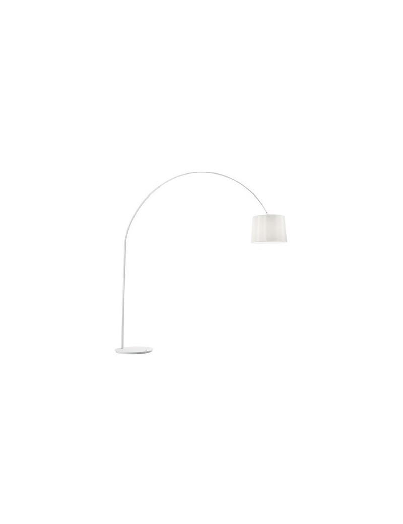 IDEAL LUX: Dorsale total white Piantana lampada da terra ad 1 luce paralume in lamina in offerta