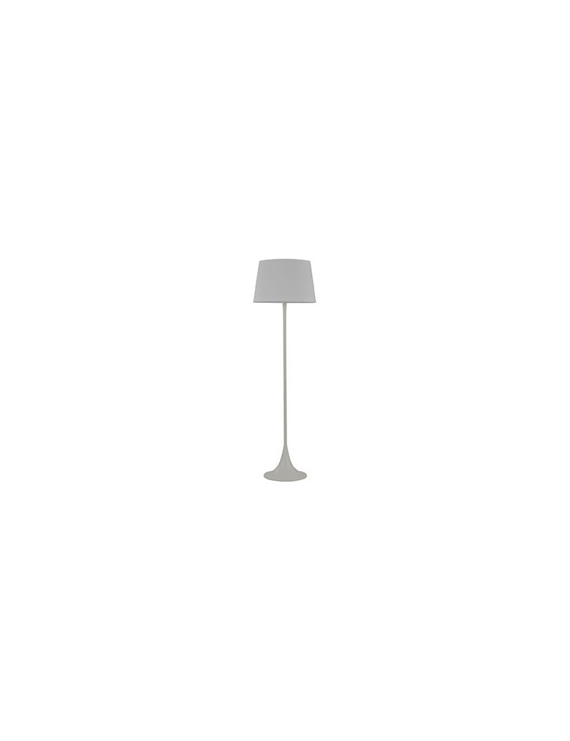 IDEAL LUX: London bianca lampada da terra piantana ad 1 luce paralume in tessuto in offerta