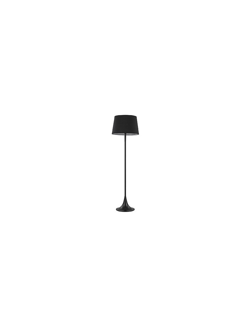 IDEAL LUX: London nero lampada da terra piantana ad 1 luce paralume in tessuto in offerta