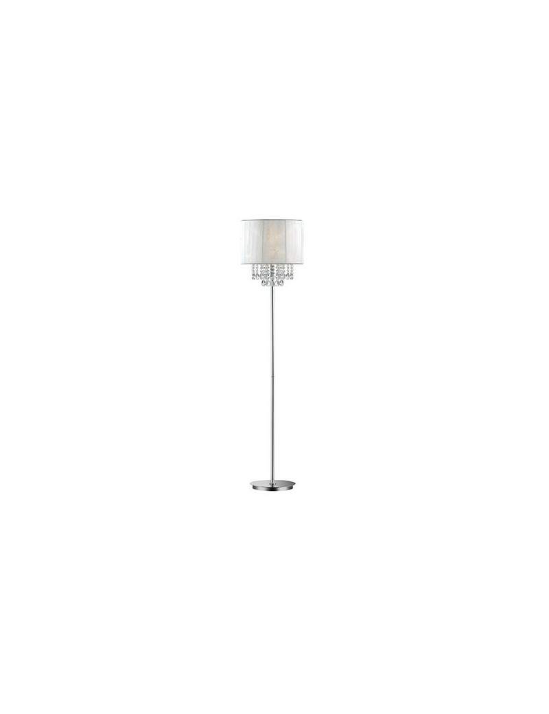 IDEAL LUX: Opera piantana con pendagli in cristallo paralume riflessi metallizzati in offerta