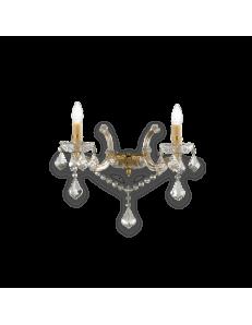 IDEAL LUX: Florian ap2 oro applique dorato con gocce e pendenti in cristallo in offerta