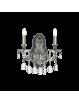 IDEAL LUX: Gioconda ap2 argento applique fusione metallo pendagli ed elementi in cristallo in