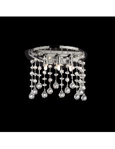 Moonlight cromo applique circolare ottagoni e sfere in cristallo