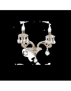 Idea Lux: Negresco ap2 applique lampada da parete in cristallo
