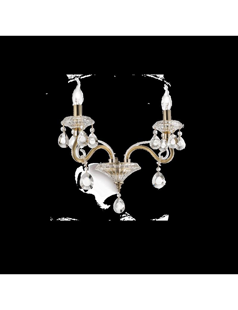 IDEAL LUX: Negresco ap2 applique lampada da parete in cristallo molato bracci in vetro soffiato