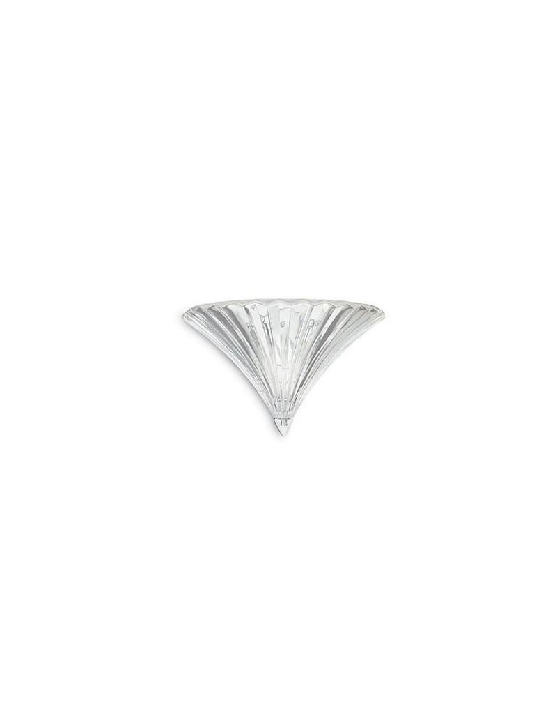 IDEAL LUX: Santa ap1 big applique lampada da parete in vetro trasparente soffiato e lavorato a mano