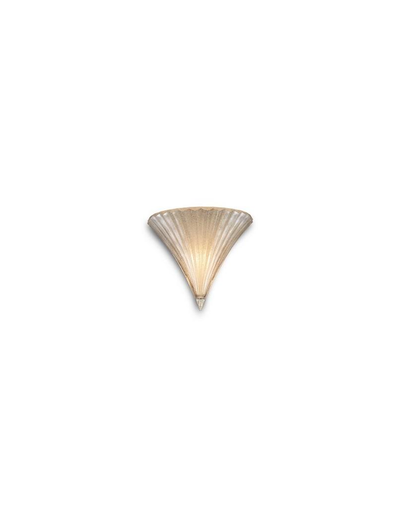 IDEAL LUX: Santa ap1 small applique lampada da parete in vetro oro soffiato e lavorato a mano 1
