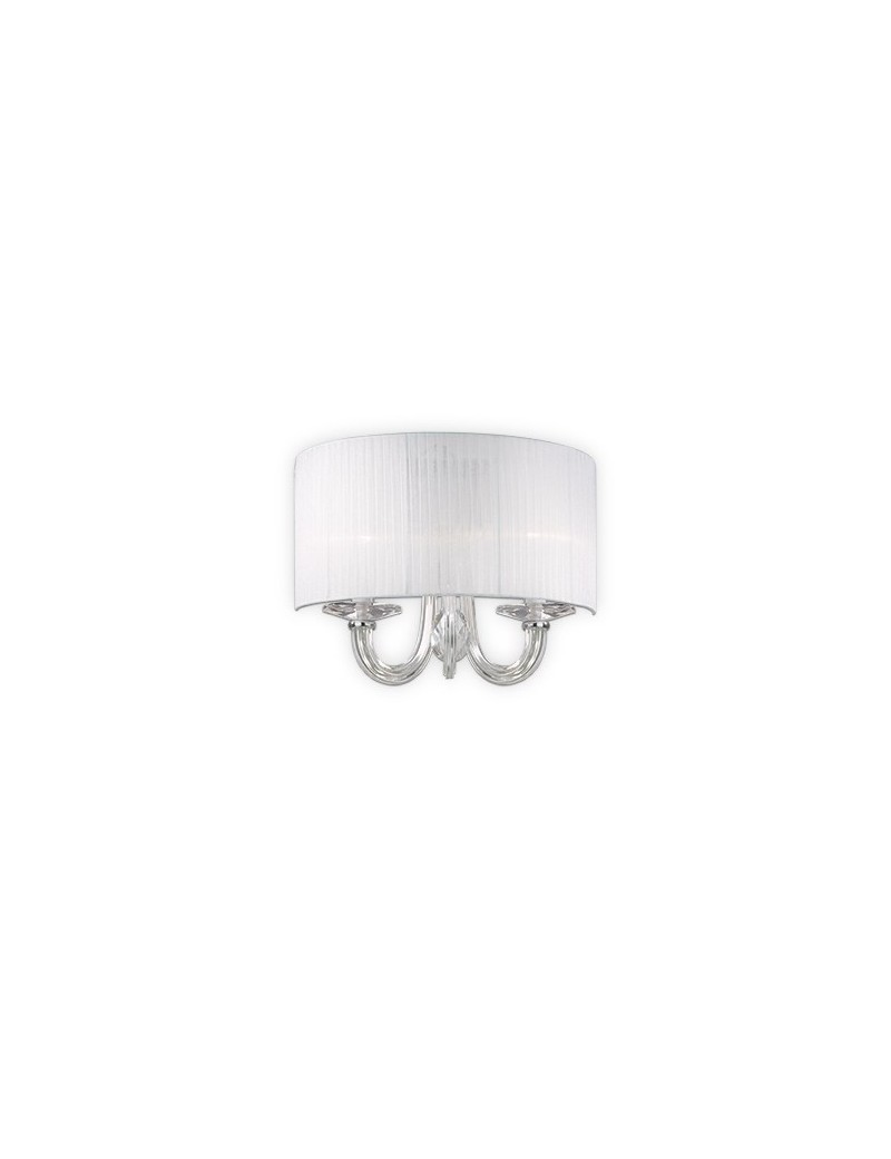 IDEAL LUX: Swan ap2 applique paralume organza corpo luce in vetro 2 luci in offerta