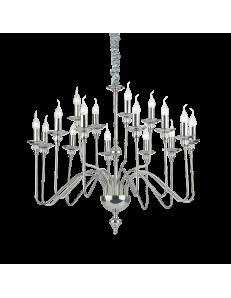 artu 16 bracci lampadario nickel lucido decorativi cristallo