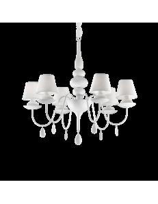 Idea Lux: Blanche sp6 lampadario bianco paralumi pvc in offerta
