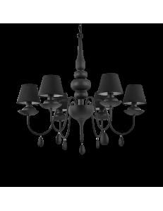 Idea Lux: Blanche sp6 nero lampadario paralumi pvc in offerta