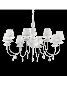 Idea Lux: Blanche sp8 lampadario paralumi pvc bianco in offerta