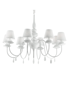 IDEAL LUX: Blanche sp8 lampadario paralumi pvc bianco in offerta