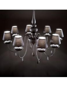 Idea Lux: Blanche sp8 lampadario paralumi pvc nero in offerta