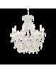 IDEAL LUX: Cascina lampadario artigianale 10 luci bianco oro pendenti vetro in offerta