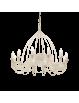 IDEAL LUX: Corte lampadario 12 luci metallo modellato finitura bianco antico in offerta