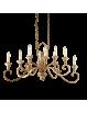 IDEAL LUX: Cortina lampadario metallo artigianale 10 luci antichizzato in offerta