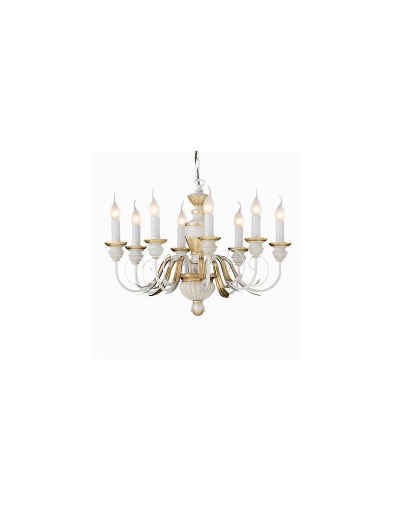IDEAL LUX: Firenze lampadario 8 bracci antichizzato foglia oro in offerta