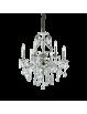 IDEAL LUX: Gioconda sp6 argento lampadario fusione metallo pendagli ed elementi in cristallo in