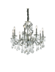 IDEAL LUX: Gioconda sp8 argento lampadario fusione metallo pendagli ed elementi in cristallo in