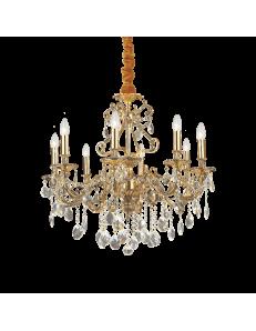 IDEAL LUX: Gioconda sp8 oro lampadario fusione metallo pendagli ed elementi in cristallo in offerta