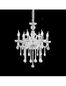 IDEAL LUX: Giudecca sp6 lampadario in vetro trasparente pendagli cristallo molato 6 luci in offerta