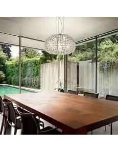 IDEAL LUX: Lampada A Sospensione 5 Luci Calypso decorativi in cristallo molato in offerta