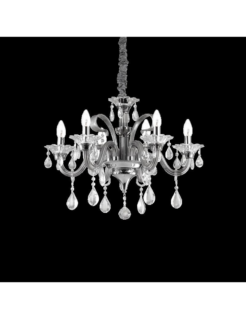 IDEAL LUX: Colossal sp6 lampadario sospensione pendagli e decorativi in vetro soffiato e cristallo