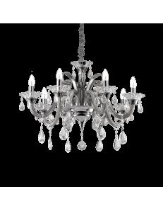 Lampadario sospensione colossal sp8 pendagli e decorativi in vetro soffiato e cristallo molato