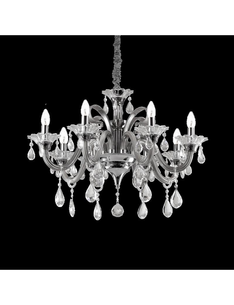 IDEAL LUX: Colossal sp8 lampadario sospensione pendagli e decorativi in vetro soffiato e cristallo