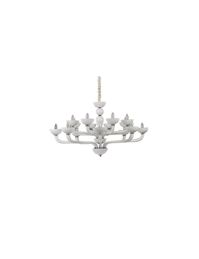 IDEAL LUX: Casanova sp16 lampadario sospensione vetro soffiato bianco in offerta