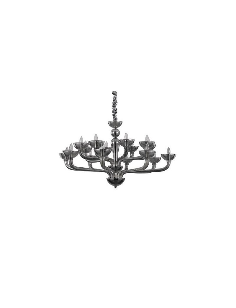 IDEAL LUX: Casanova sp16 lampadario sospensione vetro soffiato fumè in offerta
