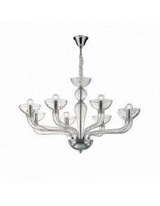 Casanova lampadario sospensione vetro soffiato sp8 trasparente