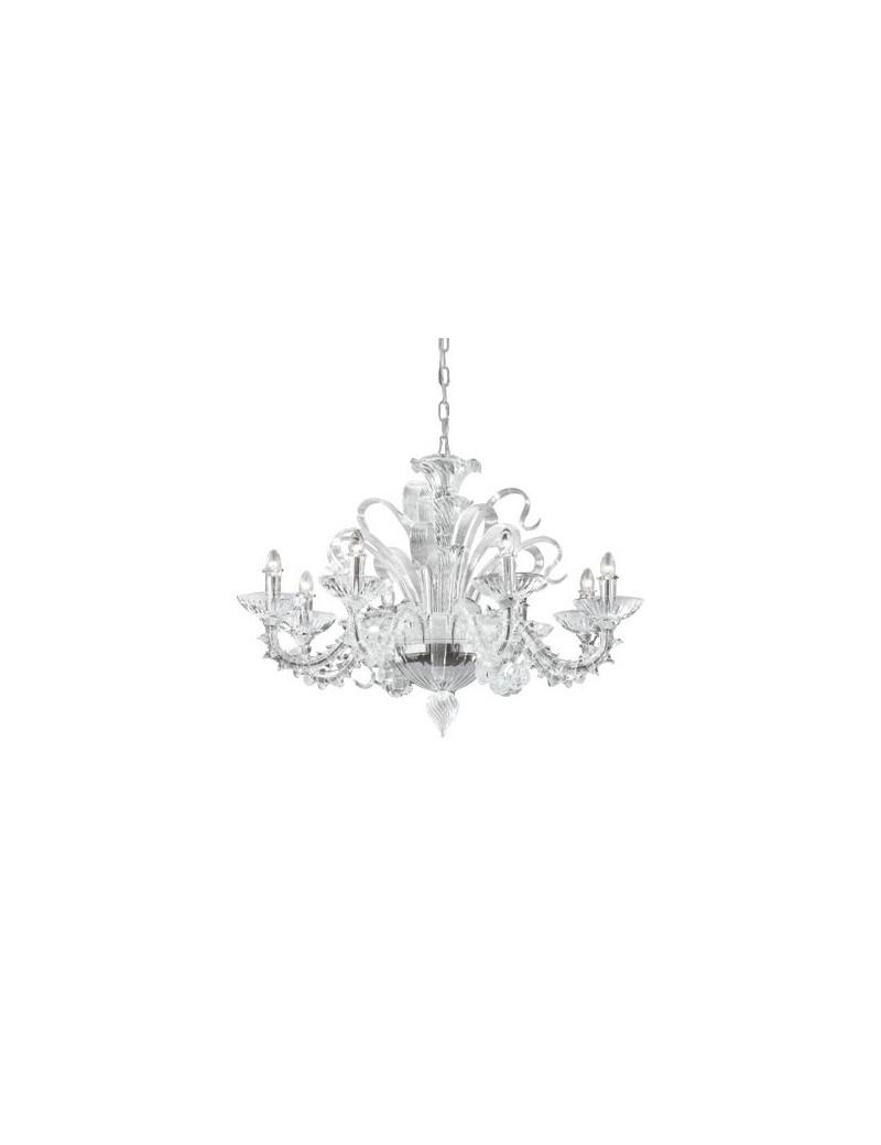 IDEAL LUX PRONTA CONSEGNA: San Marco sp8 lampadario 8 luci in vetro con bracci composti da elementi